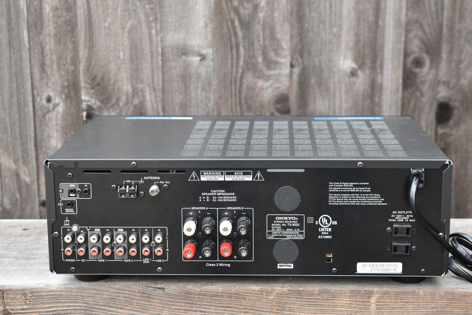 Onkyo Receiver - Model: TX-8222
